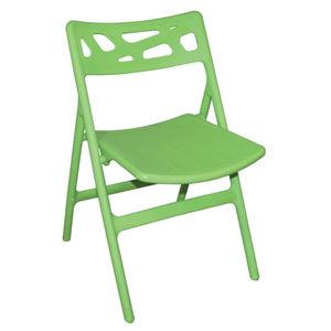 COMFORIUM - lot de 6 chaises de terrasse pliables de coloris v - Chaise De Jardin Pliante