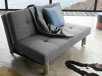 INNOVATION - tjaze canapé design gris convertible lit 140*200 c - Banquette Clic Clac
