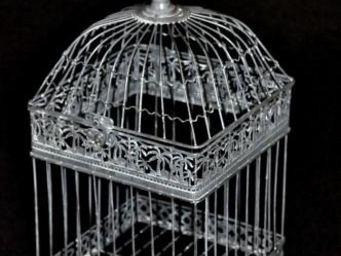 Demeure et Jardin - belle cage patine grise - Cage À Oiseaux