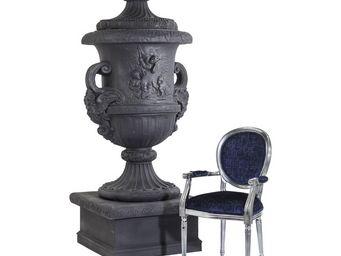 Kare Design - vase brittany xxl noir - Urne De Jardin