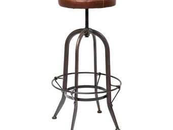 Kare Design - tabouret de bar square dance - Tabouret De Bar Pivotant