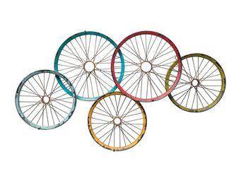 Kare Design - portemanteau mural wagon wheels - Patère