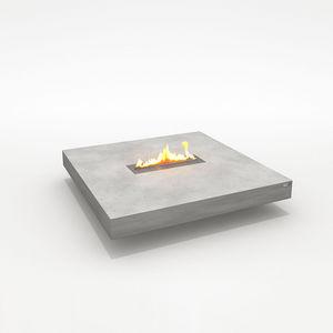 CO33 - table de salon en b�ton avec chemin�e �thanol - Table De Terrasse Chauffante