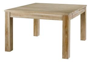 ZAGO - table repas carrée en teck cosmopolitan - Table De Repas Carrée