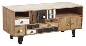 Aubry-Gaspard - meuble tv original en manguier - Meuble Tv Hi Fi
