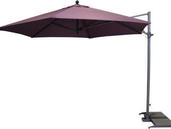 Kettler - parasol déporté hexagonal diamètre 3,5m violet - Parasol Excentré