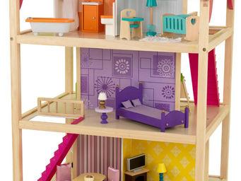 KidKraft - maison de poupées so chic avec roulettes - Maison De Poupée