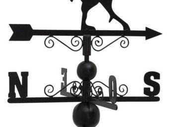 Aubry-Gaspard - girouette coq en fer forgé avec arabesques - Girouette
