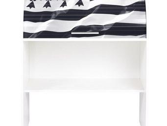 TOUSMESMEUBLES - bureau cylindre � rideau blanc - curtys n�2 - l 85 - Secr�taire