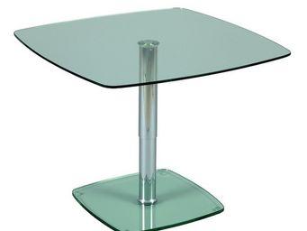 TOUSMESMEUBLES - table � hauteur variable - up - l 90 x l 90 x h 45 - Table De Repas Carr�e