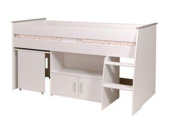 WHITE LABEL - lit 90*200 cm blanc - rectoverso - l 207 x l 114 x - Lit Enfant