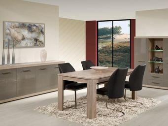 WHITE LABEL - salle à manger complète - dris - l 160 x l 88 x h - Salle À Manger