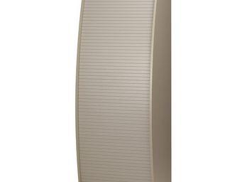 WHITE LABEL - colonne informatique à rideau taupe taille m - inf - Armoire De Bureau