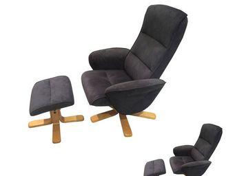 WHITE LABEL - duo de fauteuils de relaxation pétrole - fantasia - Fauteuil De Relaxation