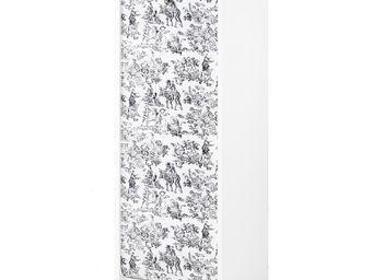 WHITE LABEL - classeur à rideaux blanc - curtain n°8 - l 38 x l - Armoire À Rideaux