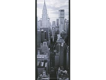 WHITE LABEL - classeur à rideaux noir - curtain n°1 - l 38 x l 3 - Armoire À Rideaux