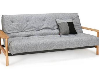 INNOVATION - innovation living canapé lit design balder gris gr - Banquette Clic Clac