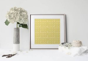 la Magie dans l'Image - print art anis jaune foncé - Estampe