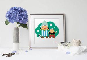 la Magie dans l'Image - print art héros asterix - Estampe