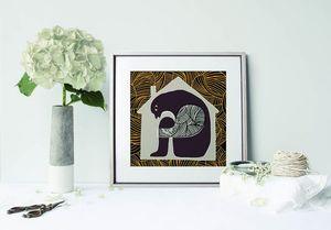 la Magie dans l'Image - print art maison gris - Poster