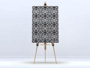 la Magie dans l'Image - toile réseau floral blanc - Impression Numérique Sur Toile