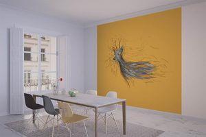 la Magie dans l'Image - grande fresque murale chevreuil orange - Papier Peint Panoramique