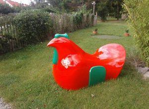 1ZA9 - poule p7 -- - Sculpture Animalière