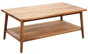 Aubry-Gaspard - table basse en teck - Table Basse Rectangulaire