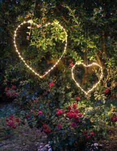 FIORIRA UN GIARDINO - coeur - Lampe De Jardin À Led