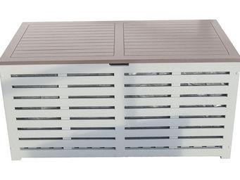 City Green - coffre banc de jardin + housse burano - 121 x 63 x - Coffre De Jardin
