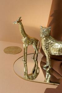 &klevering - mirror gold round - Mur Tendu Miroir
