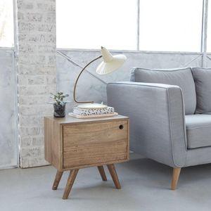 BOIS DESSUS BOIS DESSOUS - bout de canapé en bois de mindy oslo - Table De Chevet