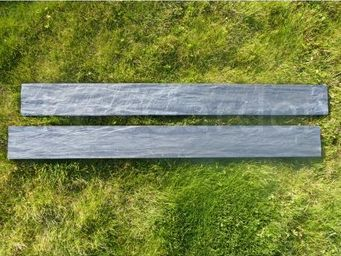 CLASSGARDEN - bordure piquet d'ardoise scie 1 mètre - pack de 2 - Bordure De Jardin