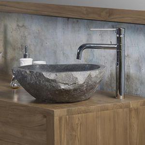 BOIS DESSUS BOIS DESSOUS - vasque en pierre naturelle - Miroir De Salle De Bains