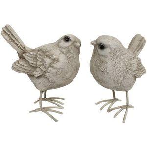 CHEMIN DE CAMPAGNE - 2 statues sculptures oiseau oiseaux de décoration  - Ornement De Jardin