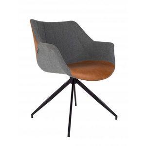 ZUIVER - fauteuil doulton brown vintage - Chaise Pivotante