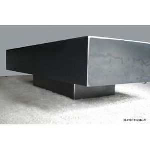 Mathi Design - table basse metallica rectangulaire - Table Basse Rectangulaire