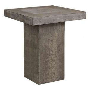 Mathi Design - table haute béton carrée - Mange Debout