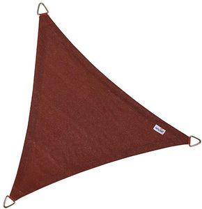 jardindeco - voile d'ombrage triangulaire coolfit terracotta - Voile D'ombrage