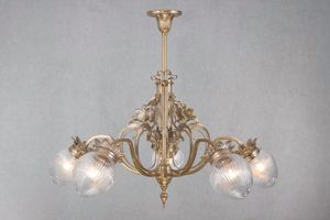 PATINAS - lyon 5 armed chandelier - Lustre