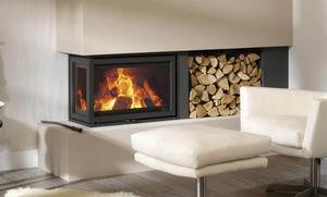 Platonic Fireplace -  - Cheminée À Foyer Fermé