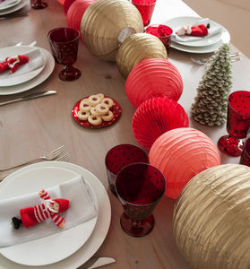 SOUS LE LAMPION - boule alvéolée - Décoration De Noël