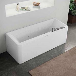 Grandform - hydromassage de baignoire slim edge oxygen pool plus 180x80 - blanc: matt matt - Baignoire Balnéo
