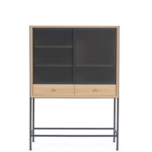 HARTÔ - gabin - cabinet en chêne et métal 1m40 - Bureau Cabinet