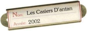 LES  CASIERS  D'ANTAN -  - Etiquette À Vin