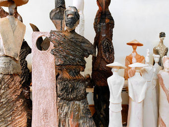MARIE JUGE SCULPTEUR - masque - Sculpture Végétale