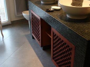 Atelier Zelij - portes coulissantes sous-vasque - Moucharabieh