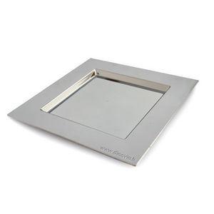 DINOVIA - assiette carrée argentée - Assiette De Mariage