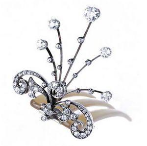 VENDOME JOYERIA - aigrette or argent diamants fin xix - Aigrette