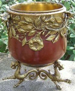 Antiquité Bosetti - bronze napoléon iii - Cache Pot